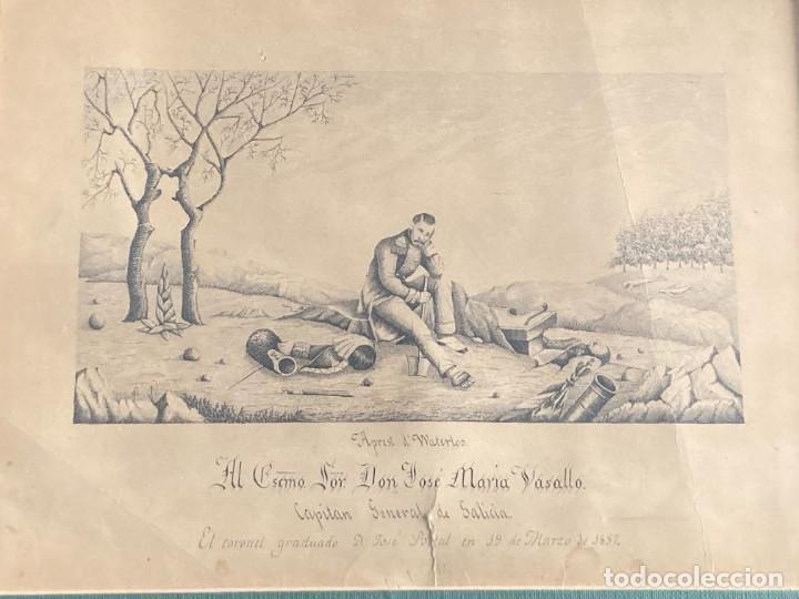 Arte: Aprest d`Waterloo. Al Escmo Sor Don José Mª Vasallo. Capitán Gral de Galicia, por José Portal 1857 - Foto 16 - 248491390