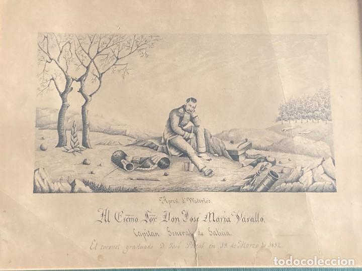 Arte: Aprest d`Waterloo. Al Escmo Sor Don José Mª Vasallo. Capitán Gral de Galicia, por José Portal 1857 - Foto 17 - 248491390