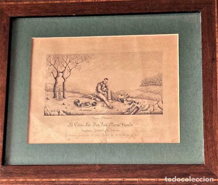 APREST D`WATERLOO. AL ESCMO SOR DON JOSÉ Mª VASALLO. CAPITÁN GRAL DE GALICIA, POR JOSÉ PORTAL 1857 (Arte - Dibujos - Modernos siglo XIX)