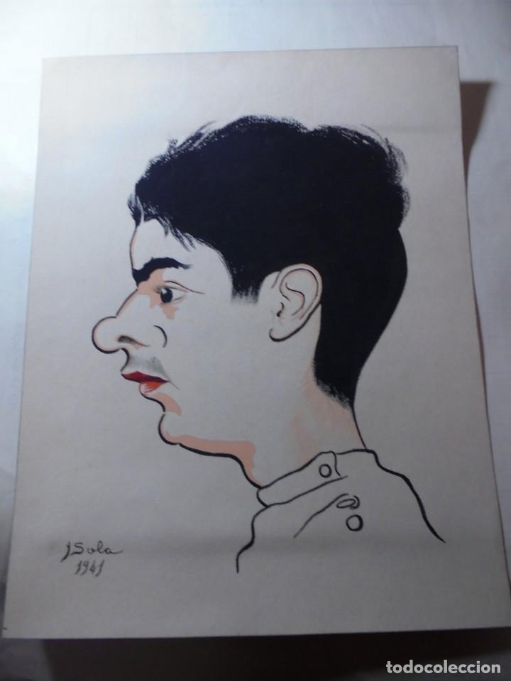 MAGNIFICO ANTIGUO DIBUJO COLOREADO EN ACUARELA,FIRMADO Y FECHADO (Arte - Dibujos - Contemporáneos siglo XX)