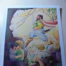 Arte: MAGNIFICO ANTIGUO DIBUJO COLOREADO EN ACUARELA,FIRMADO. Lote 248603645
