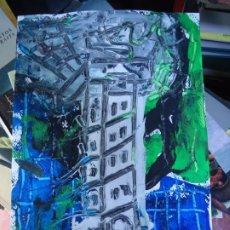 Arte: TORRE DE HÉRCUES POR EL CHANO MIDE 29,5 X 21CM. ART-BRUT ÓLEO SOBRE CARTULINA FIRMADO EL CHANO. Lote 248763015