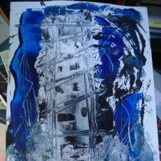 Arte: TORRE DE HÉRCUES POR EL CHANO MIDE 29,5 X 21CM. ART-BRUT ÓLEO SOBRE CARTULINA FIRMADO EL CHANO. Lote 248765250