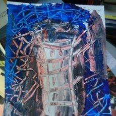 Arte: TORRE DE HÉRCUES POR EL CHANO MIDE 29,5 X 21CM. ART-BRUT ÓLEO SOBRE CARTULINA FIRMADO EL CHANO - BE. Lote 248766850