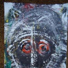 Arte: CARAS POR EL CHANO MIDE 32 X 24CM. ART-BRUT ÓLEO SOBRE CARTULINA FIRMADO EL CHANO - BERNARDO CARRO. Lote 248771090