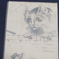 Arte: F. COLLANTES? PINTURA A LAPIZ. Lote 249016375