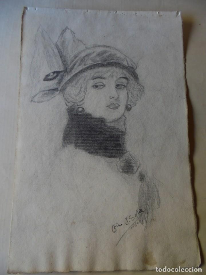 MAGNIFICO ANTIGUO DIBUJO FIRMADO Y FECHADO 1920 (Arte - Dibujos - Contemporáneos siglo XX)