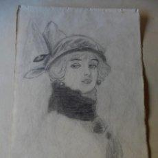 Arte: MAGNIFICO ANTIGUO DIBUJO FIRMADO Y FECHADO 1920. Lote 249284845