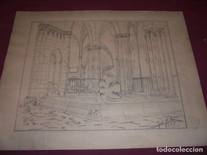 MAGNIFICO ANTIGUO DIBUJO FIRMADO Y FECHADO 1928 (Arte - Dibujos - Contemporáneos siglo XX)