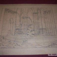 Arte: MAGNIFICO ANTIGUO DIBUJO FIRMADO Y FECHADO 1928. Lote 249299905