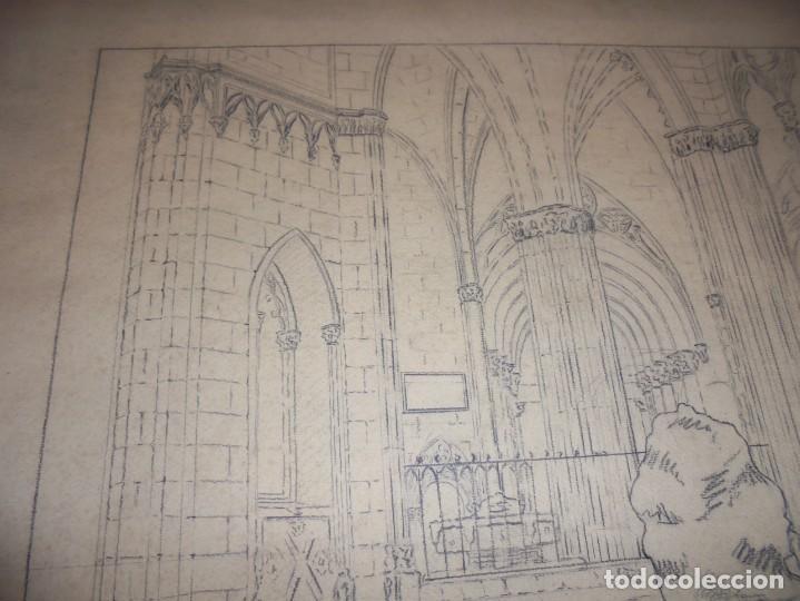 Arte: magnifico antiguo dibujo firmado y fechado 1928 - Foto 3 - 249299905