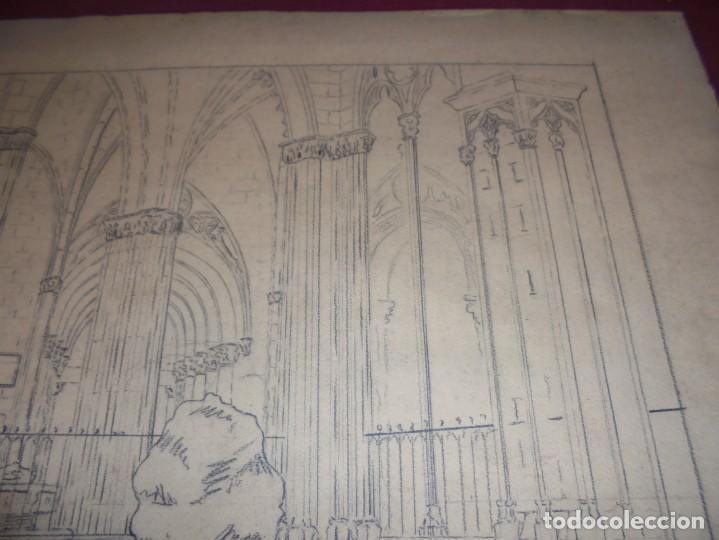 Arte: magnifico antiguo dibujo firmado y fechado 1928 - Foto 6 - 249299905