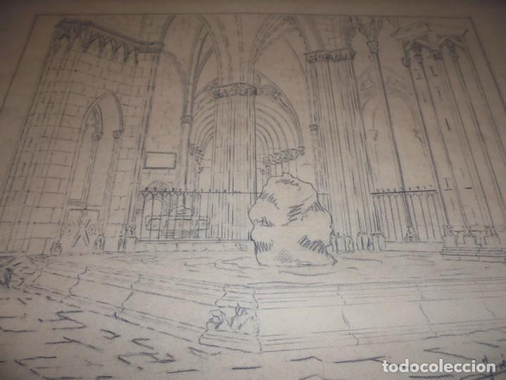Arte: magnifico antiguo dibujo firmado y fechado 1928 - Foto 7 - 249299905