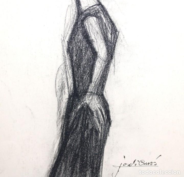 Arte: JORDI CURÓS VENTURA (1930 - 2017) PAREJA DE DIBUJOS A CARBON. RETRATOS FEMENINOS - Foto 4 - 249443440