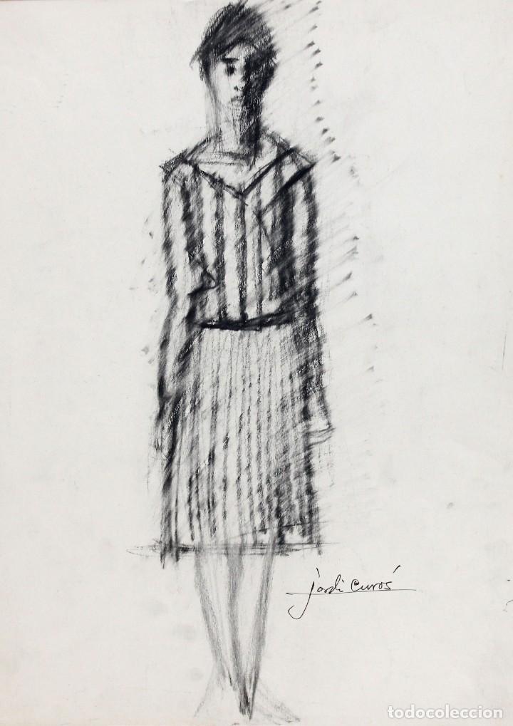 Arte: JORDI CURÓS VENTURA (1930 - 2017) PAREJA DE DIBUJOS A CARBON. RETRATOS FEMENINOS - Foto 6 - 249443440