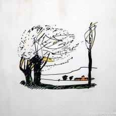 Arte: PERE GUSSINYE GIRONELLA (OLOT, 1890 - 1980) TECNICA MIXTA. PAISAJE. Lote 249446015