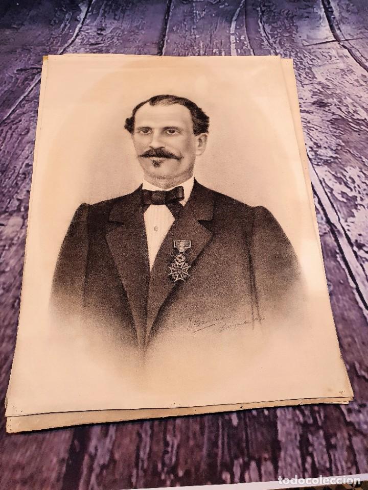 Arte: ANTIGUOS RETRATOS PINTADOS AL CARBONCILLO FIRMADOS Y FECHADOS EN 1896 - Foto 2 - 249606630