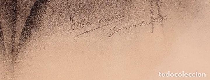 Arte: ANTIGUOS RETRATOS PINTADOS AL CARBONCILLO FIRMADOS Y FECHADOS EN 1896 - Foto 3 - 249606630