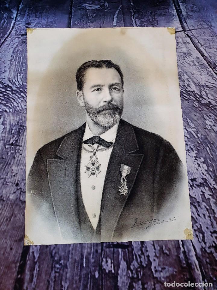 Arte: ANTIGUOS RETRATOS PINTADOS AL CARBONCILLO FIRMADOS Y FECHADOS EN 1896 - Foto 7 - 249606630