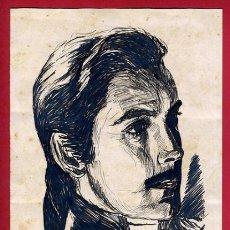 Arte: DIBUJO PLUMILLA ORIGINAL ARTISTA CINE FIRMADO POR LLORCA , D9D. Lote 251397965