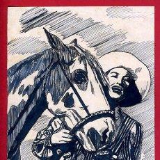 Arte: DIBUJO PLUMILLA ORIGINAL ACTRIZ DE CINE FIRMADO POR LLORCA , D9D. Lote 251398515