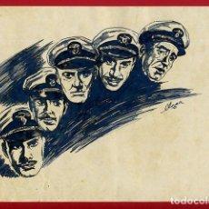 Arte: DIBUJO PLUMILLA ORIGINAL ACTORES DE CINE FIRMADO POR LLORCA , D9D. Lote 251406570