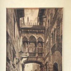 Arte: GRAN DIBUJO A TINTA DE A.ESPARBÉ CASA DELS CANONGES BARCELONA. 1958.. Lote 251801355