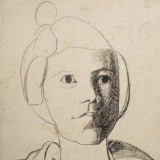 Arte: JORDI CURÓS, CERAS/CARTULINA 42 X 27 CM. FIRMADO Y FECHADO 1953.. Lote 251896915