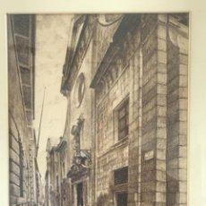 Arte: DIBUJO A TINTA DE A.ESPARBÉ 1954 IGLESIA DE SAN SEVERO BARCELONA.. Lote 252005125