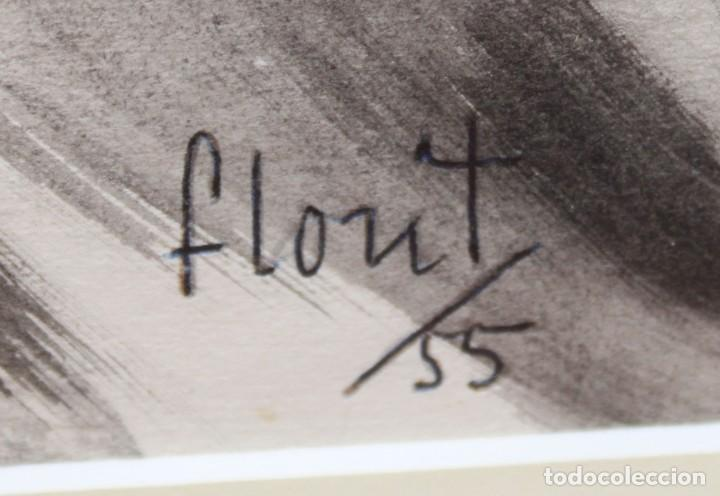 Arte: JOSE LUIS FLORIT RODERO (1909 - 2000) TECNICA MIXTA FECHADA DEL AÑO 1955. EL PINTOR Y LA MODELO - Foto 12 - 252168280