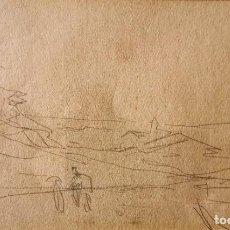 Art: JOAQUIM MIR. DIBUJO ORIGINAL. Lote 253313545