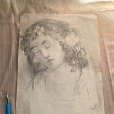 Art: ANTIGUO CARBONCILLO DE 1935,FIRMA C.FOSSAS!. Lote 253570255
