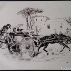 Arte: DIBUJO A TINTA. ESCUELA DE PARÍS. 1862. Lote 253885840