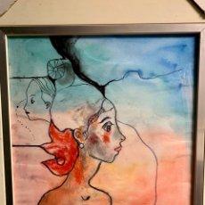 Art: MIQUEL TORNER DE SEMIR, CHICA DESNUDA EN TÉCNICA MIXTA SOBRE PAPEL, 36X44 OBRA Y 49X57 CM CON MARCO. Lote 253968795