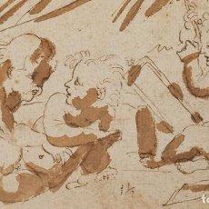 Arte: ANÍBAL CARRACCI ANNIBALE DIBUJO CATALOGADO 1602 COLECCIÓN DE LA REINA MARÍA CRISTINA DE BORBÓN. Lote 254356900