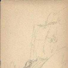Arte: JOAQUIM MIR. PAISAJE MONTSERRAT. FIRMADO A MANO. CAMÍ DELS SEGADORS. 15,5X10,5 CM. BUEN ESTADO.. Lote 254411540