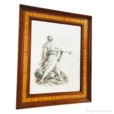 Arte: ESPECTACULAR DIBUJO DE LA AURORA. GUINO RENI. FIRMADO Y FECHADO. LEONTINE ALENAMDRE. NOV. 1878.. Lote 254432295