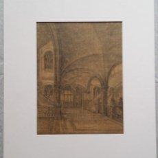 Arte: ANTIGUO DIBUJO, FECHADO Y FIRMADO, 1887. Lote 254611330