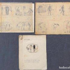 Arte: DIBUJOS ORIGINALES Y PRUEBA DE CATALOGO IMPRESO THE MOSS BROS. Lote 254666100