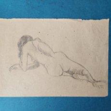 """Arte: J.GRAU"""" ESTUDIO AL NATURAL DESNUDO FEMENINO"""" 1983. Lote 254750135"""