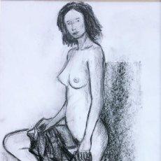 Arte: JOSEP MARIA VAYREDA CANADELL (GERONA 1932-2001) - DESNUDO - CARBONCILLO. Lote 254904615
