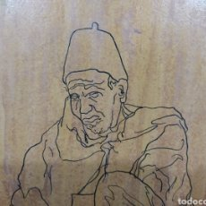Arte: DIBUJO A TINTA SOBRE TABLA - RAMÓN JESÚS. Lote 255634605