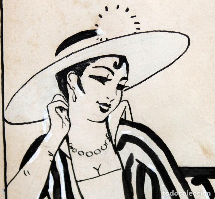 Arte: RICARDO OPISSO I SALA - (1880-1966),- DIBUJO EROTICO - TINTA Y CLARIÓN. - Foto 4 - 255926180