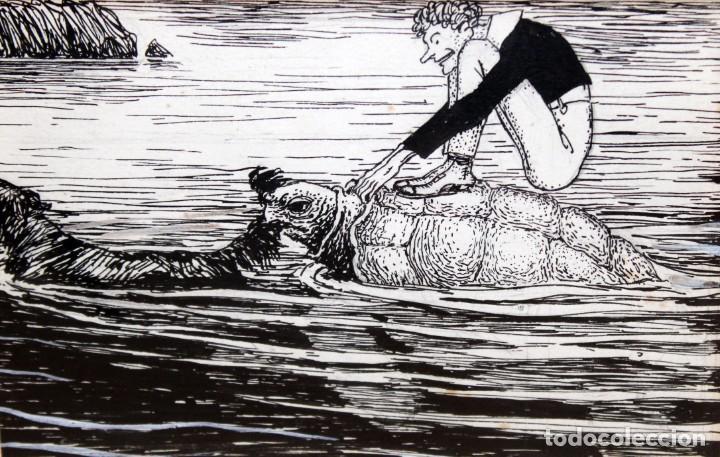 JOAN GARCIA JUNCEDA SUPERVIA - MASSAGRAN - DIBUJO CON CERTIFICADO - 11,5 X 17,5 CM. (Arte - Dibujos - Contemporáneos siglo XX)