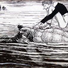 Arte: JOAN GARCIA JUNCEDA SUPERVIA - MASSAGRAN - DIBUJO CON CERTIFICADO - 11,5 X 17,5 CM.. Lote 255926400