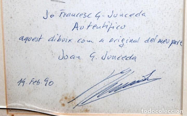 Arte: JOAN GARCIA JUNCEDA SUPERVIA - MASSAGRAN - DIBUJO CON CERTIFICADO - 14 x 11,5 CM. - Foto 8 - 255927035