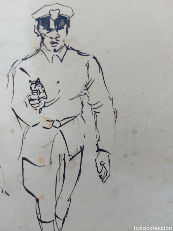 Arte: ORIGINAL ILUSTRACION COMIC 1942 - Foto 2 - 256029135