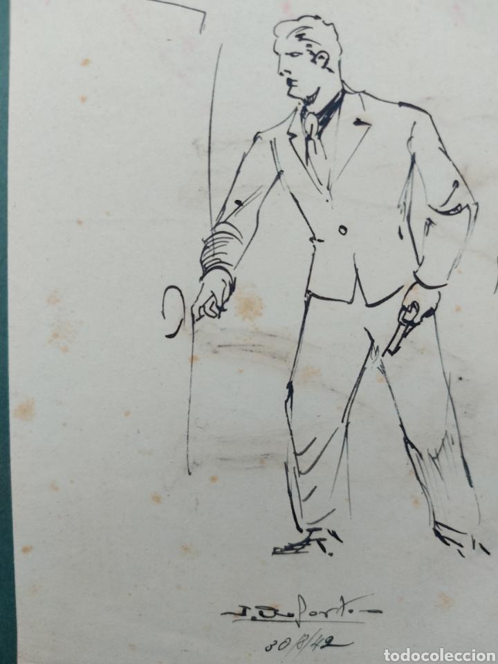 Arte: ORIGINAL ILUSTRACION COMIC 1942 - Foto 3 - 256029135