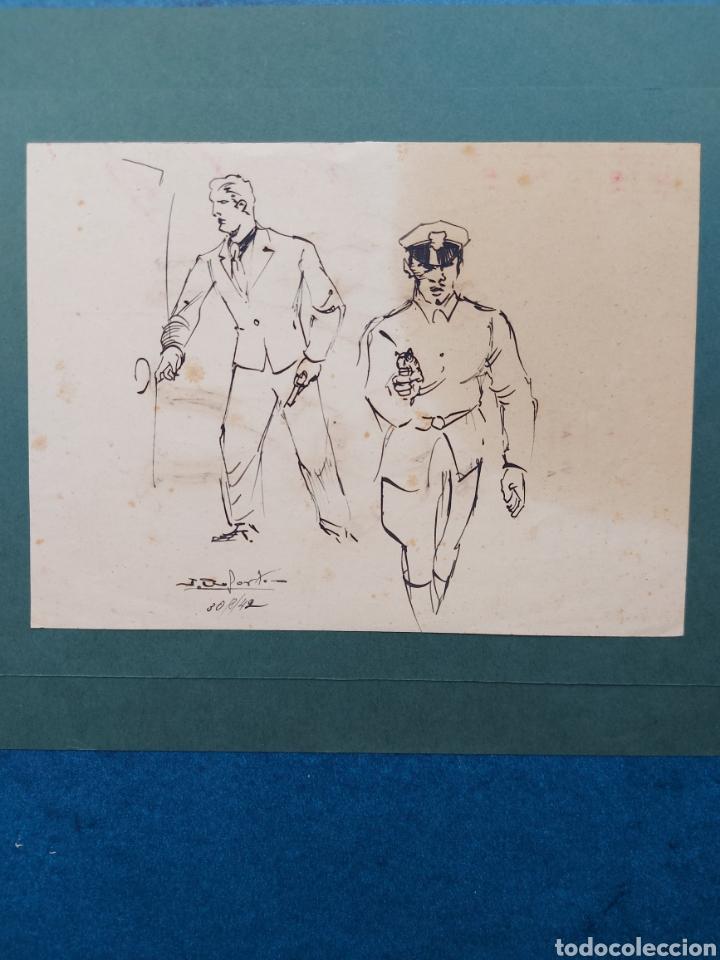 ORIGINAL ILUSTRACION COMIC 1942 (Arte - Dibujos - Contemporáneos siglo XX)