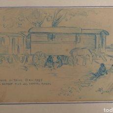Arte: CARBONCILLO SOBRE PAPEL 1925. Lote 256997440